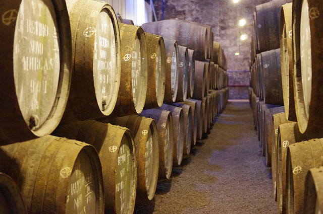 Barrels at the Wiese and Krohn Warehouse in Vila Nova de Gaia