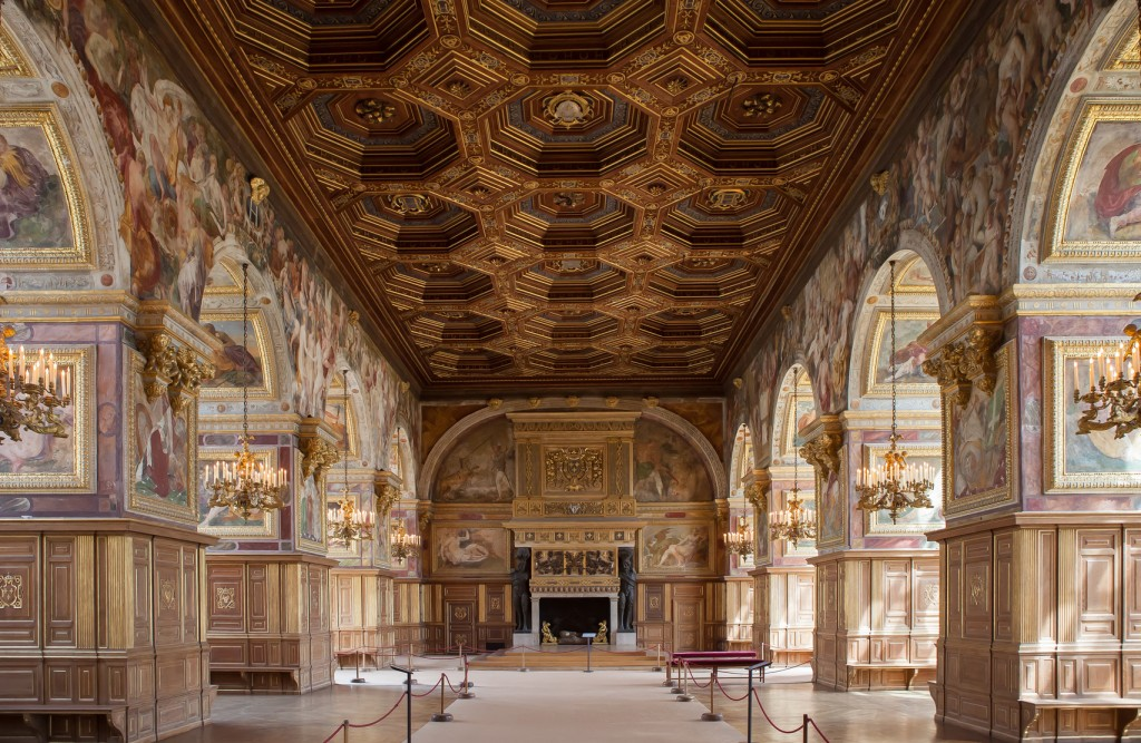 Chateau de Fontainebleau, France, interiors details