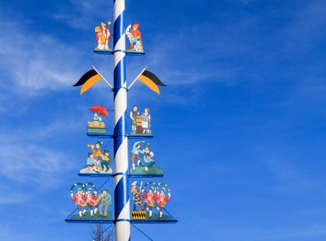 Detail of a Maypole in Munich