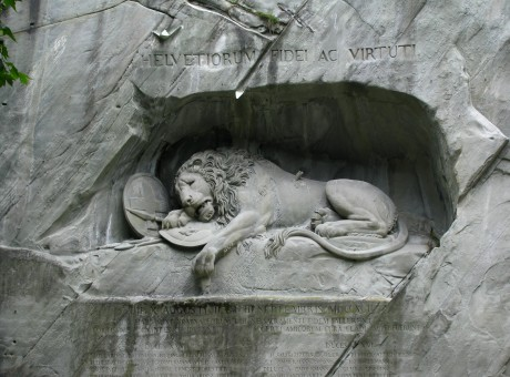 Lucerne's Lion Monument, Switzerland