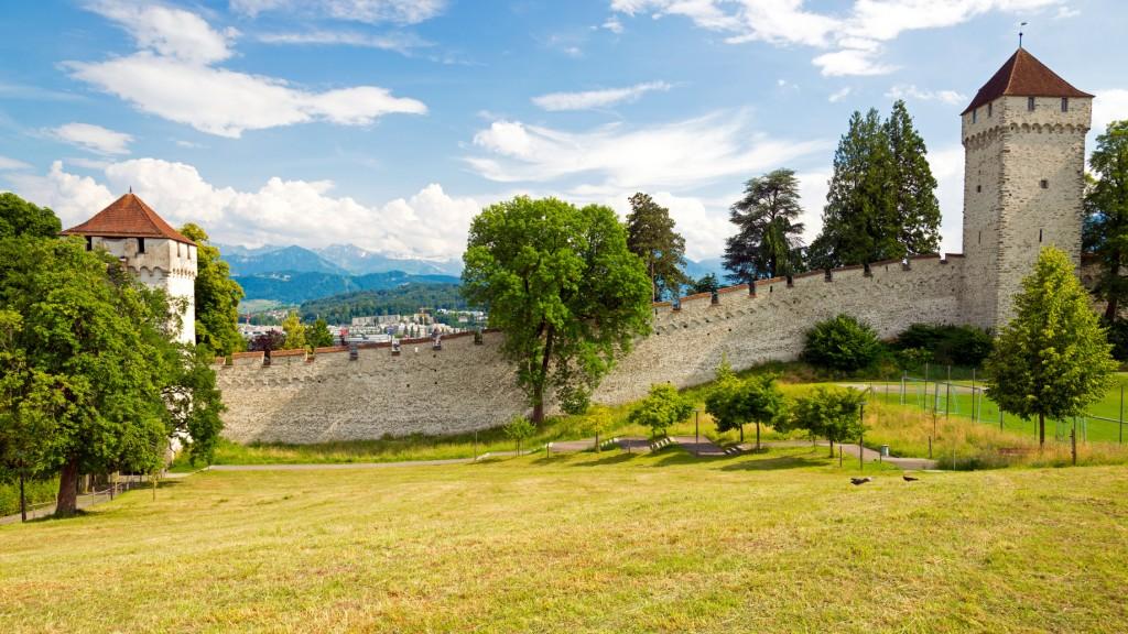 historische luzerner Stadtmauer