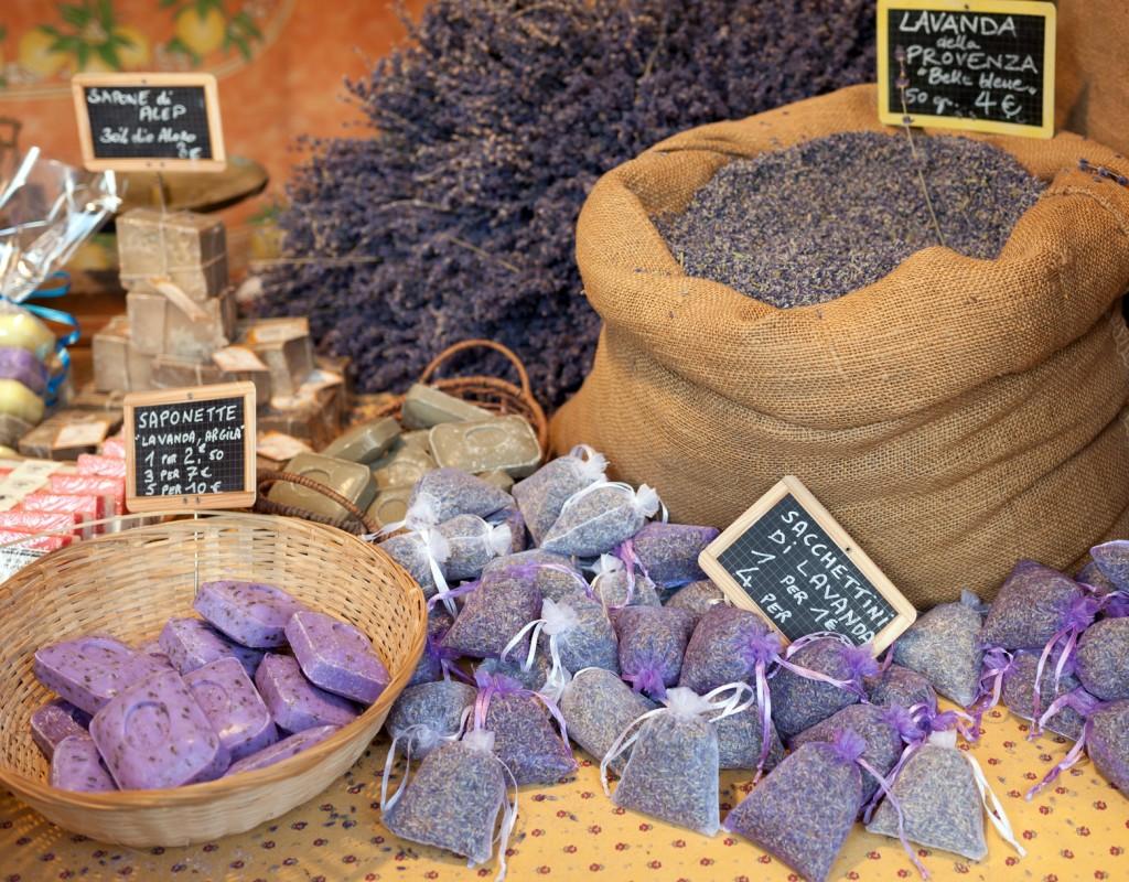 Dried lavender sachets basket.
