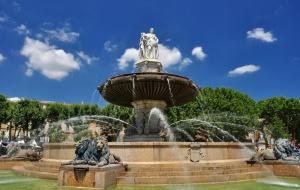 AIX-EN-PROVENCE : Fontaine de la Rotonde