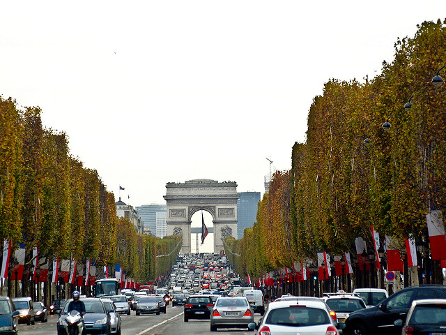 Arc de Triumph with Champs Elysees