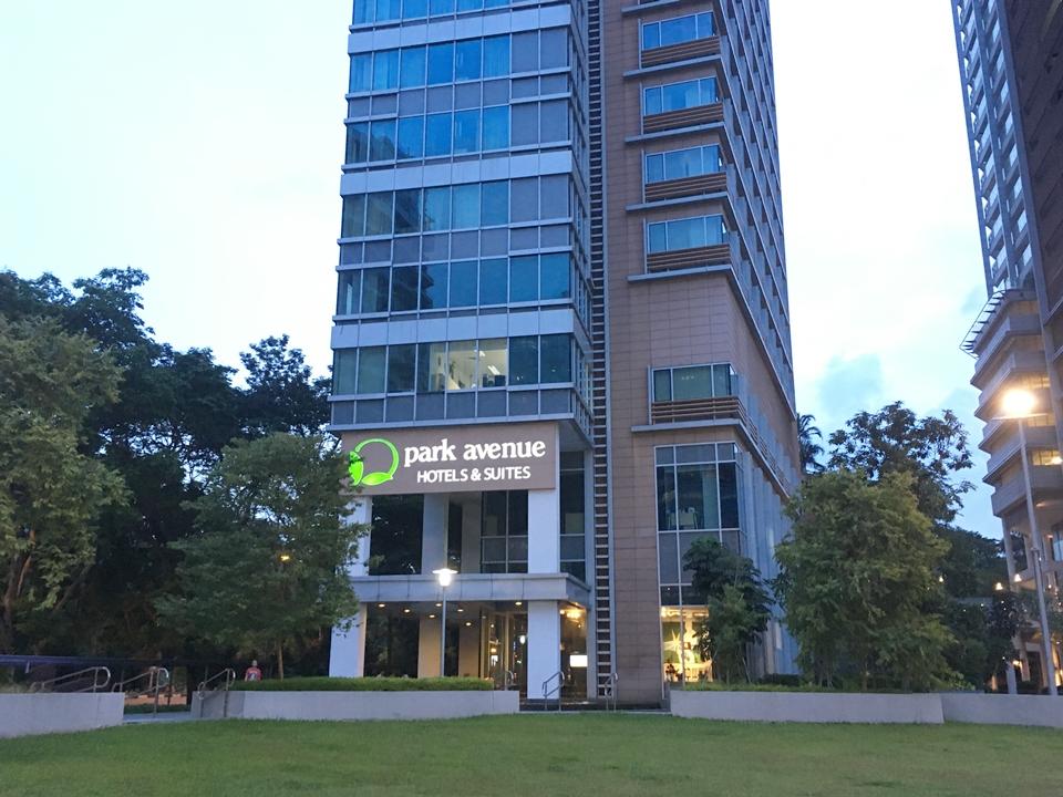 ホテルの入口外観