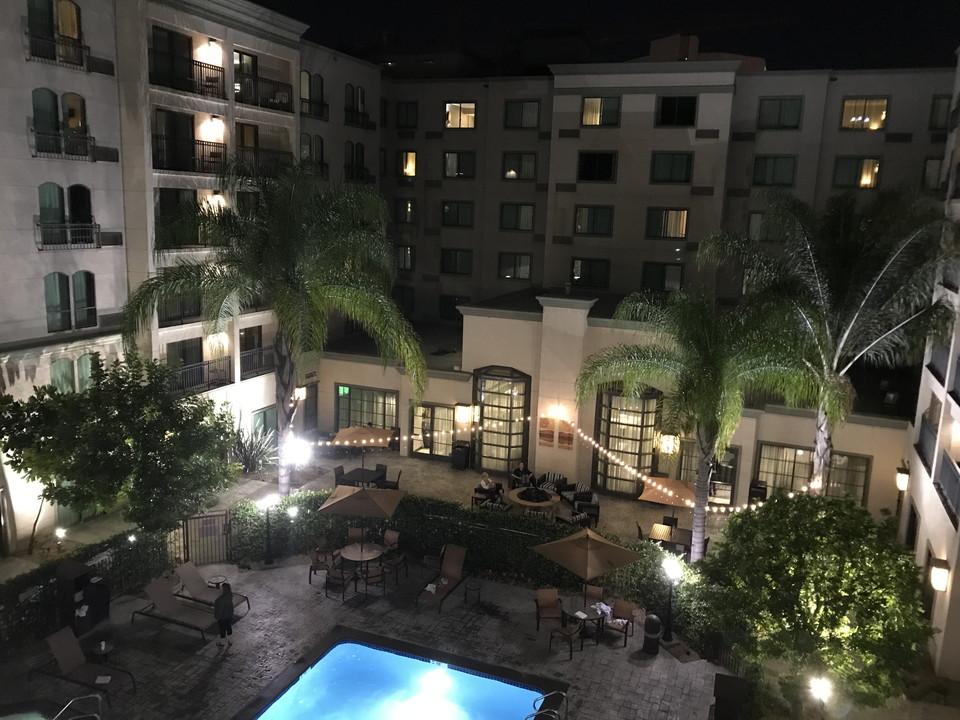 ホテル横立体駐車場からの眺め